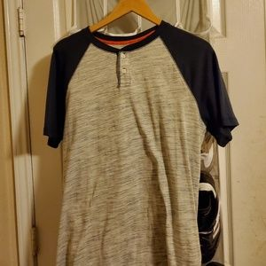 Urban Pipeline Henley gray and blue